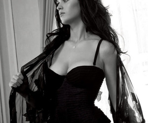 katy perry, sexy, and black and white image