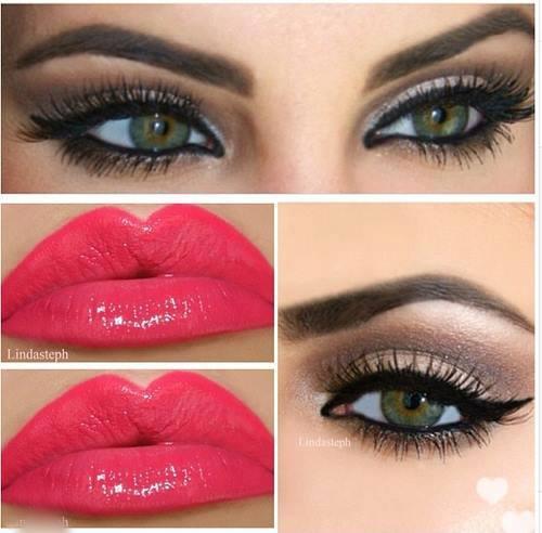 makeup, lips, and eyes image