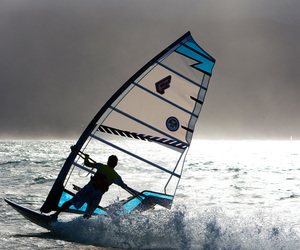 ocean, water, and windsurfing image