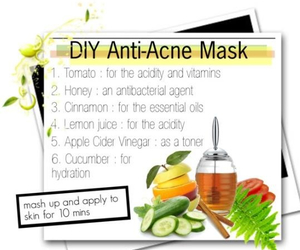 acne, diy, and face mask image