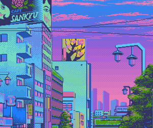 pixel, aesthetic, and city image