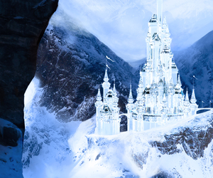 crystal castle, ice, and horse image