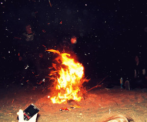 bonfire, fire, and photography image