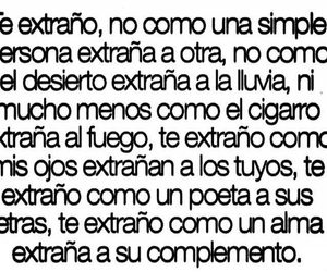 love, te extraño, and frases image