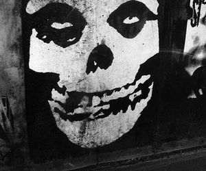 misfits, black and white, and punk image