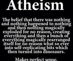 atheism, funny, and god image