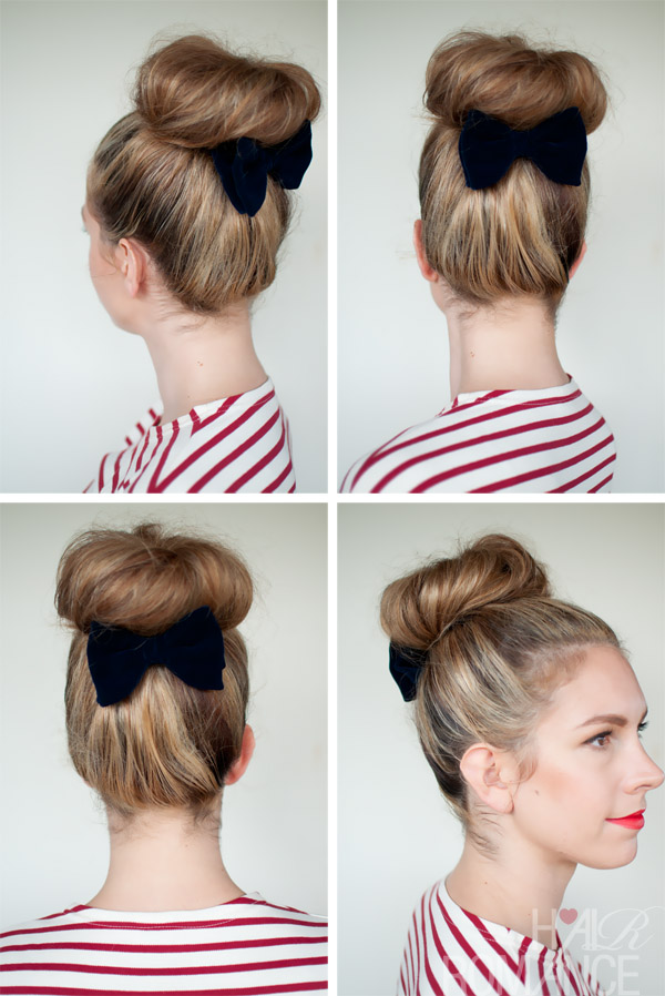 Bun With A Bow Uploaded By Gabriela Reyes On We Heart It