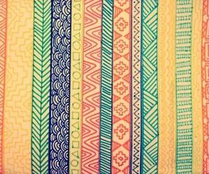 tribal, colors, and pattern image