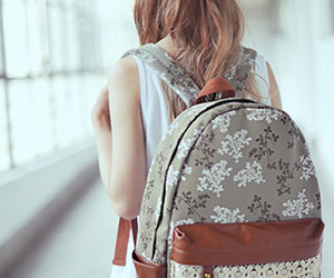 backpack, print, and crochet image