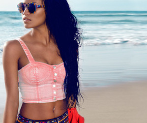 girl, beach, and cassie image