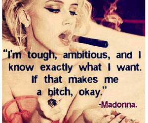 quote, madonna, and bitch image