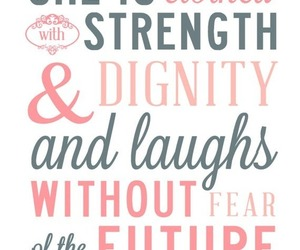 quote, strength, and laugh image