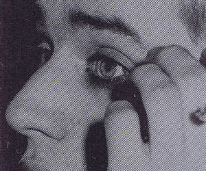 Blixa Bargeld, eyeliner, and makeup image