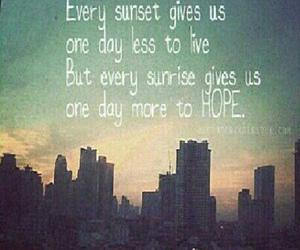 hope, sunset, and life image