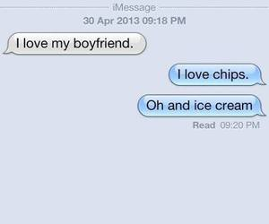 boyfriend, chips, and food image