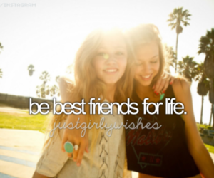 best friends, girl, and friends image