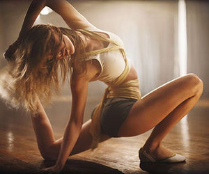 blonde, girl, and dance image