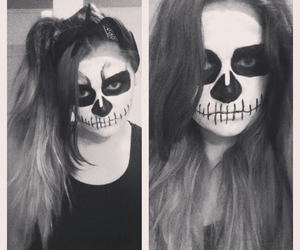 black, face, and facepaint image