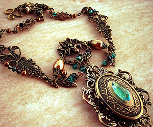 beautiful, girl, and necklace image
