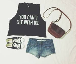 converse, bag, and fashion image