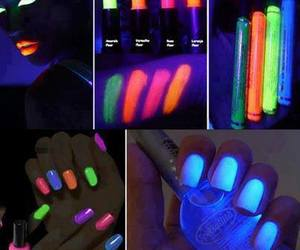 neon, nails, and colors image