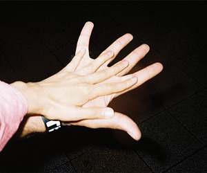 hands, couple, and hipster image