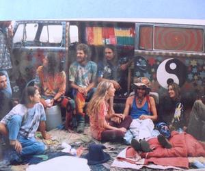 hippie, peace, and friends image