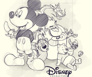 characters, disney, and mickey mouse image