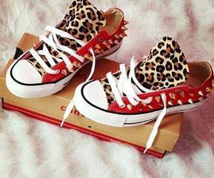 red, converse, and shoes image