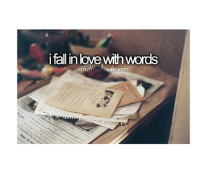 books, words, and love image
