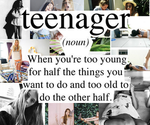 teenager, young, and quote image