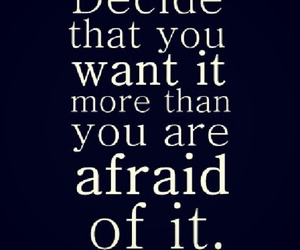 quote, afraid, and text image