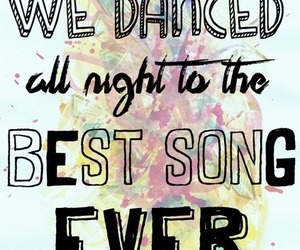 one direction, best song ever, and Lyrics image