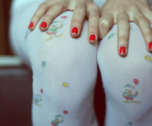 nails, tights, and red image