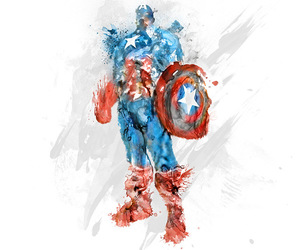 art, Marvel, and captain america image