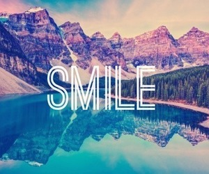 smile, pretty, and mountains image