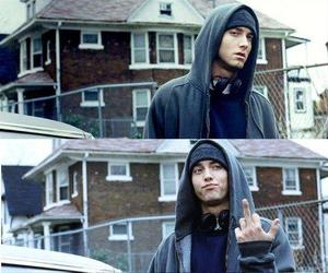 eminem, fuck, and the finger image