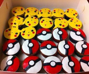 pokemon, cupcake, and pikachu image