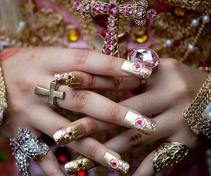 cross, hands, and nail art image