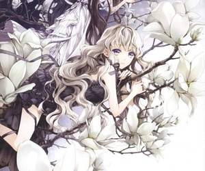 cocoon, flowers, and girls image