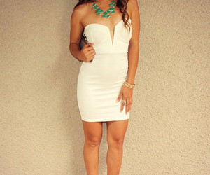 mini dress, party dress, and plunge image