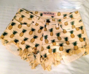 pineapple, fashion, and shorts image