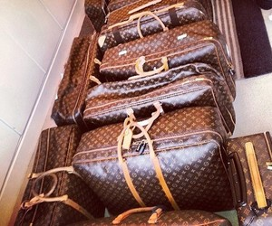 bag, Louis Vuitton, and luggage image