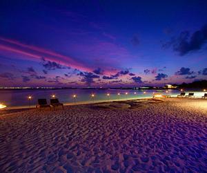 beach, summer, and night image