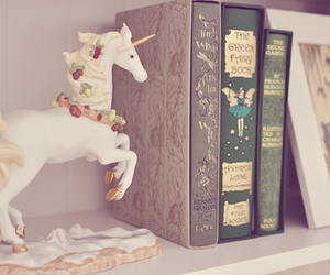 book, unicorn, and vintage image