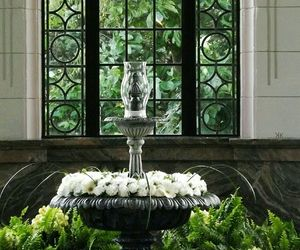 fountain, casa loma, and green image