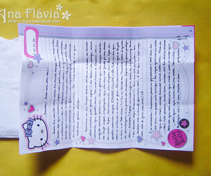 Letter, carta, and hello kitty image