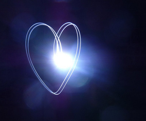 bokeh, heart, and light painting image