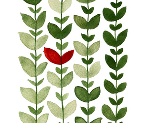green, leaves, and red image