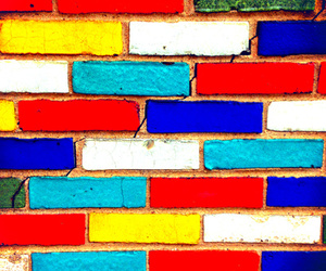 bricks, colors, and backgrounds image